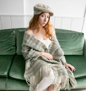 1960s Mohair Wool Oversized Knit Shawl Wrap Scarf