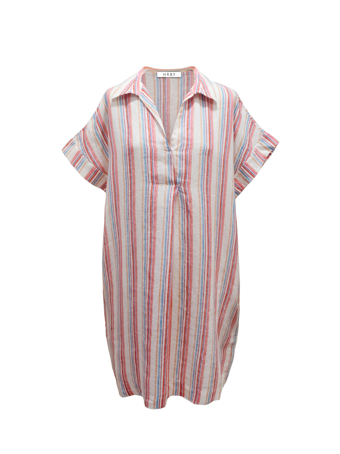 Shelley stripe linen dress