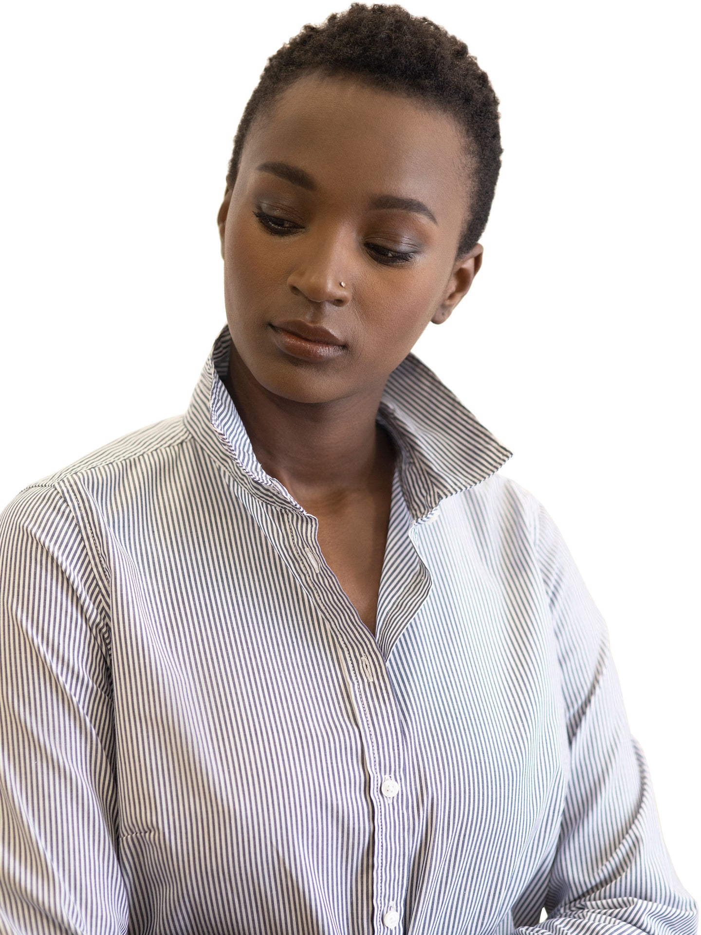Simone cotton stripe shirt