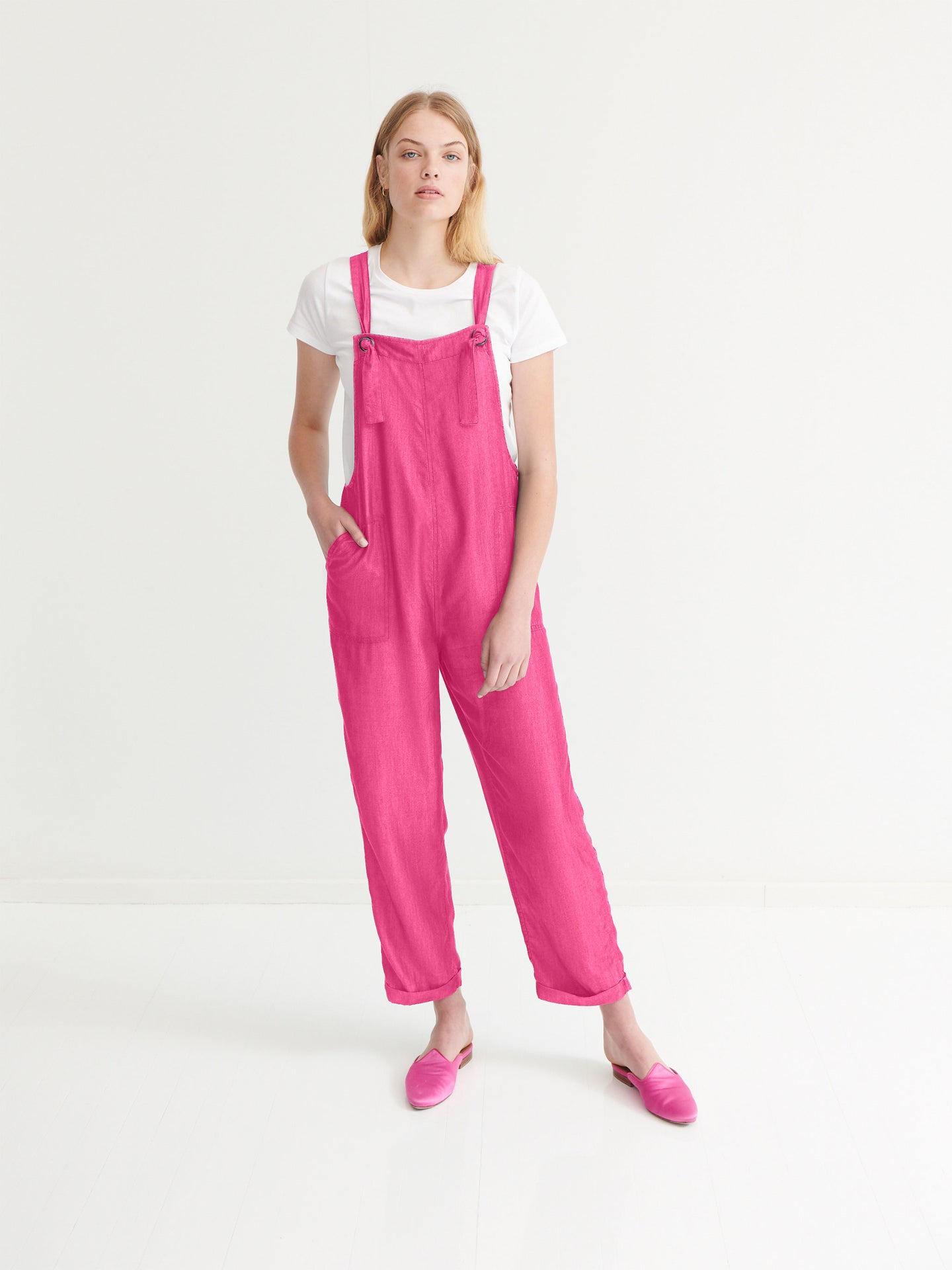 Carrie linen dungaree