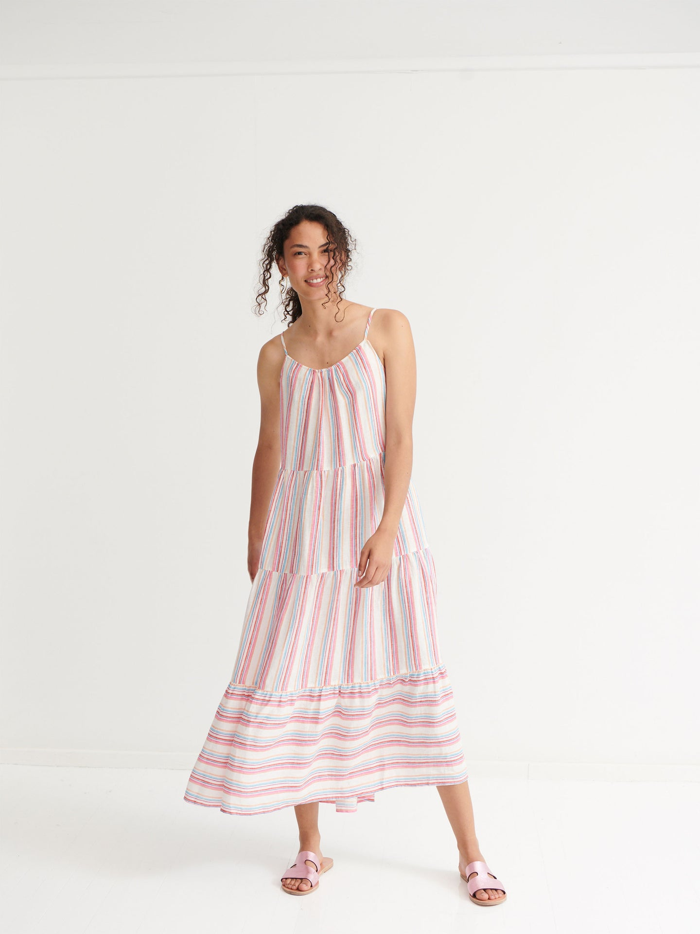 Nini stripe maxi dress