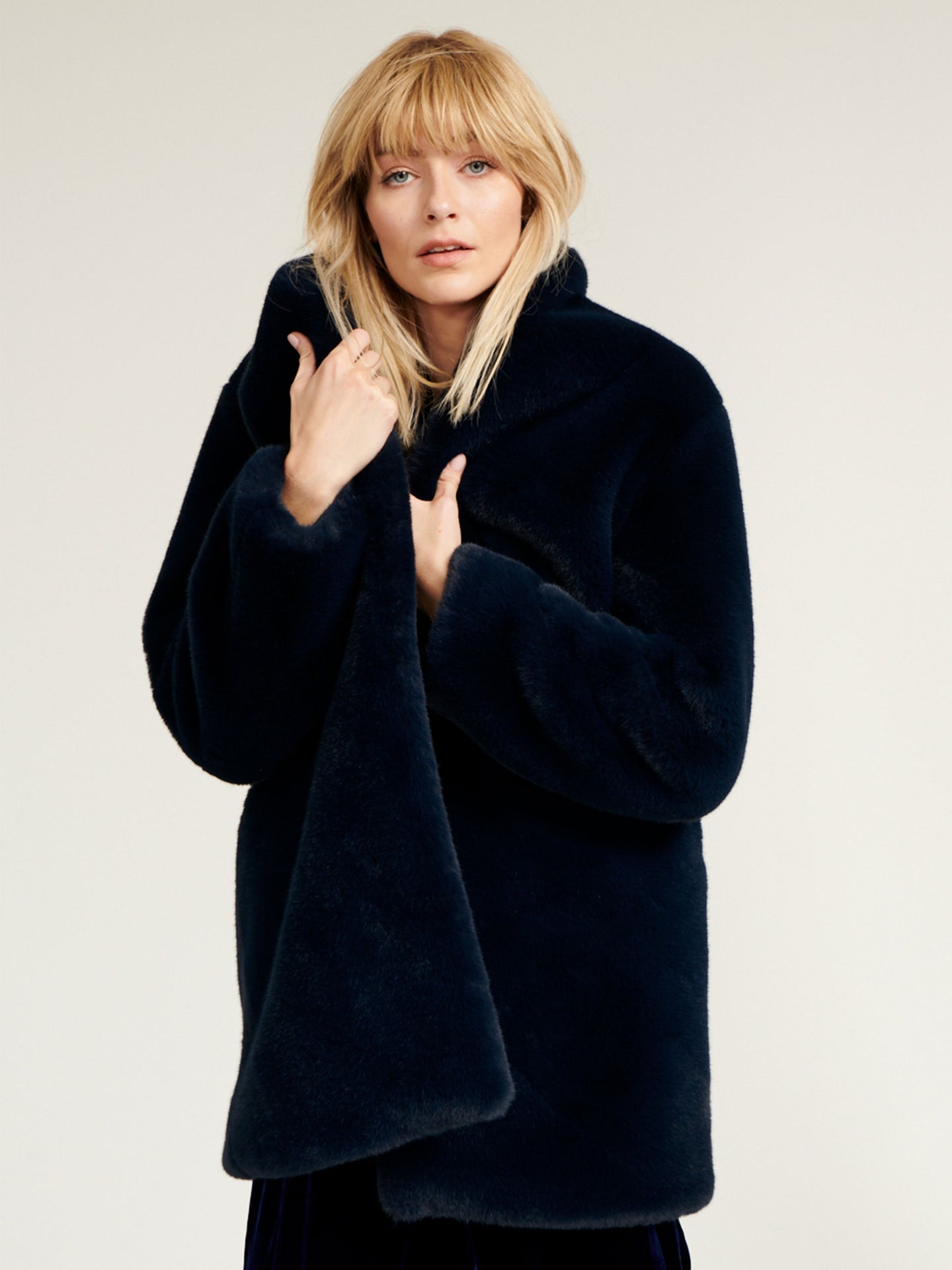 Dulcie faux fur 3/4 coat