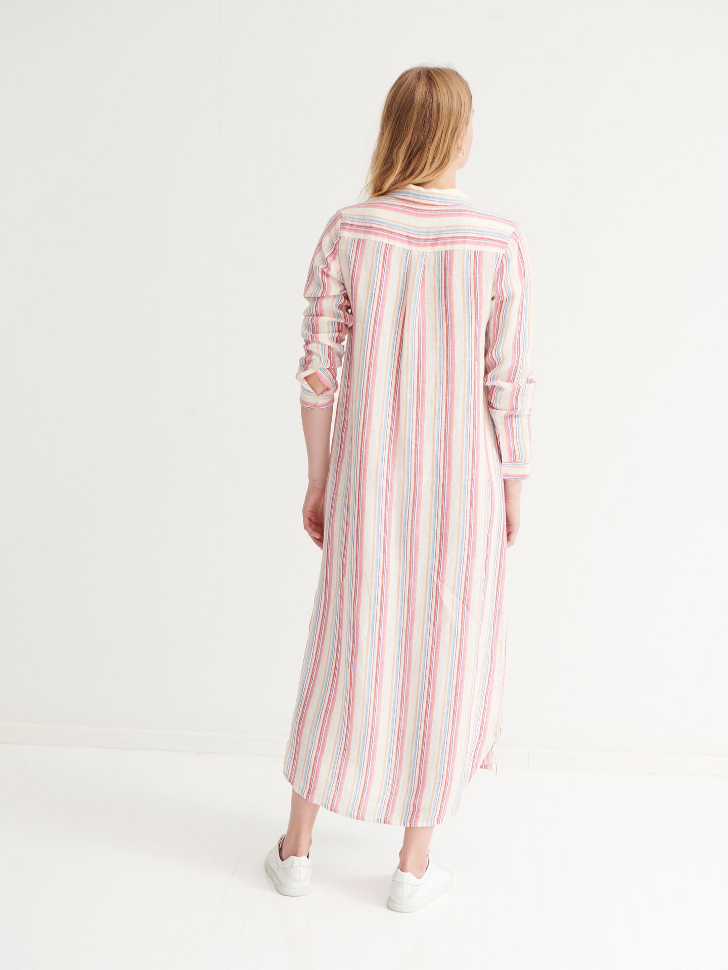 Chrissie stripe maxi dress
