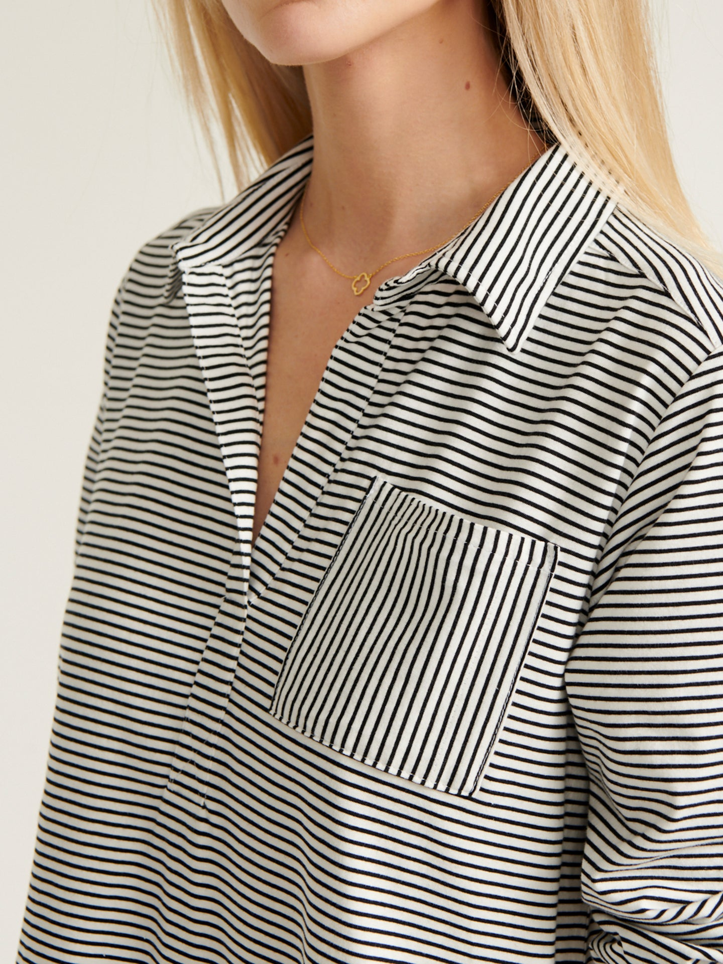Tasha stripe belted shirt dress