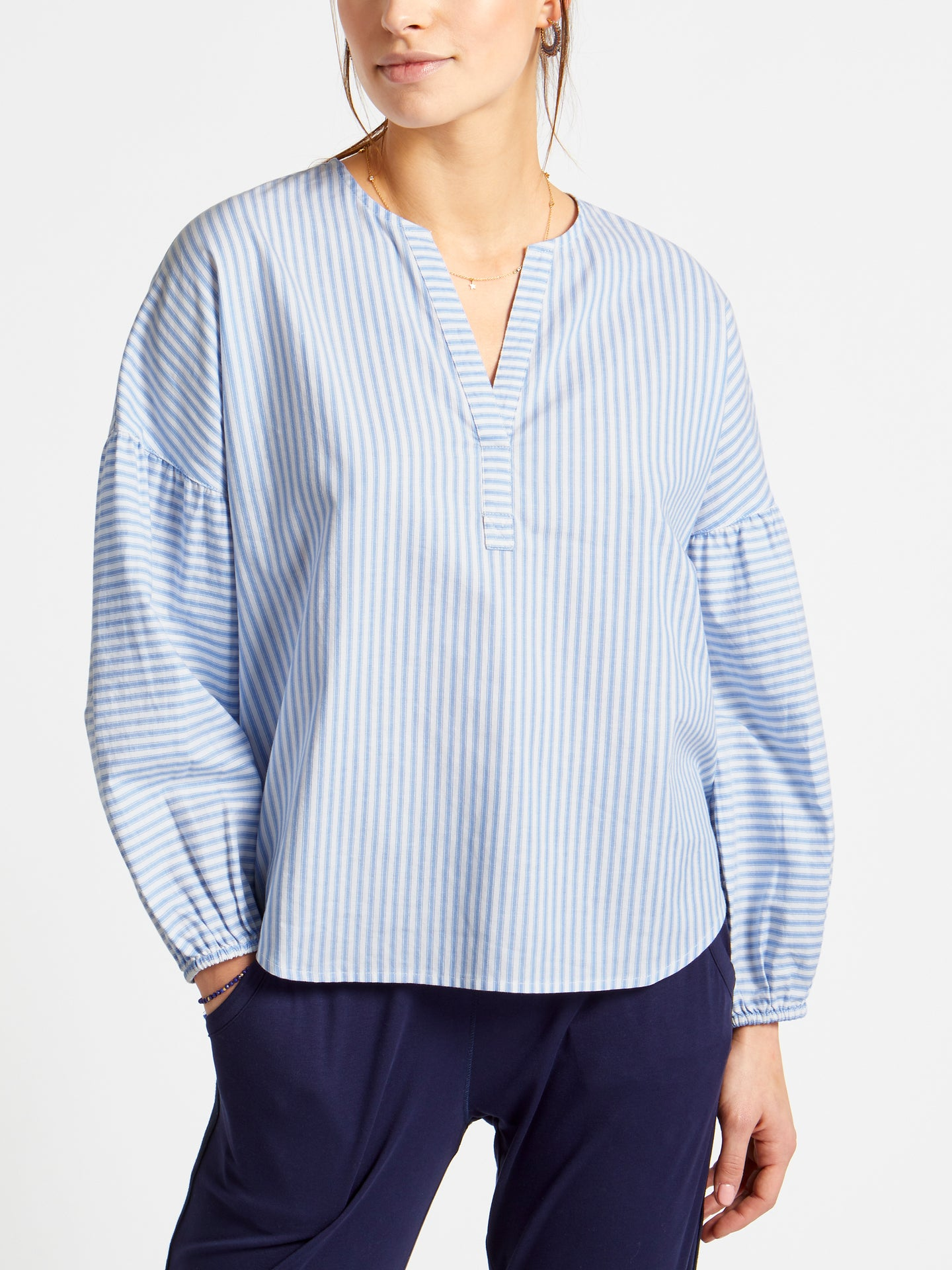 Clara striped cotton shirt