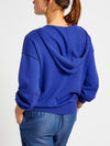 Lily hooded cotton cashmere sweater