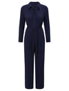 Estella jersey button front jumpsuit