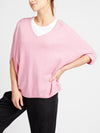 Gail cotton cashmere v neck sweater pink