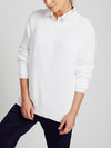 Annie cotton crew neck sweater white