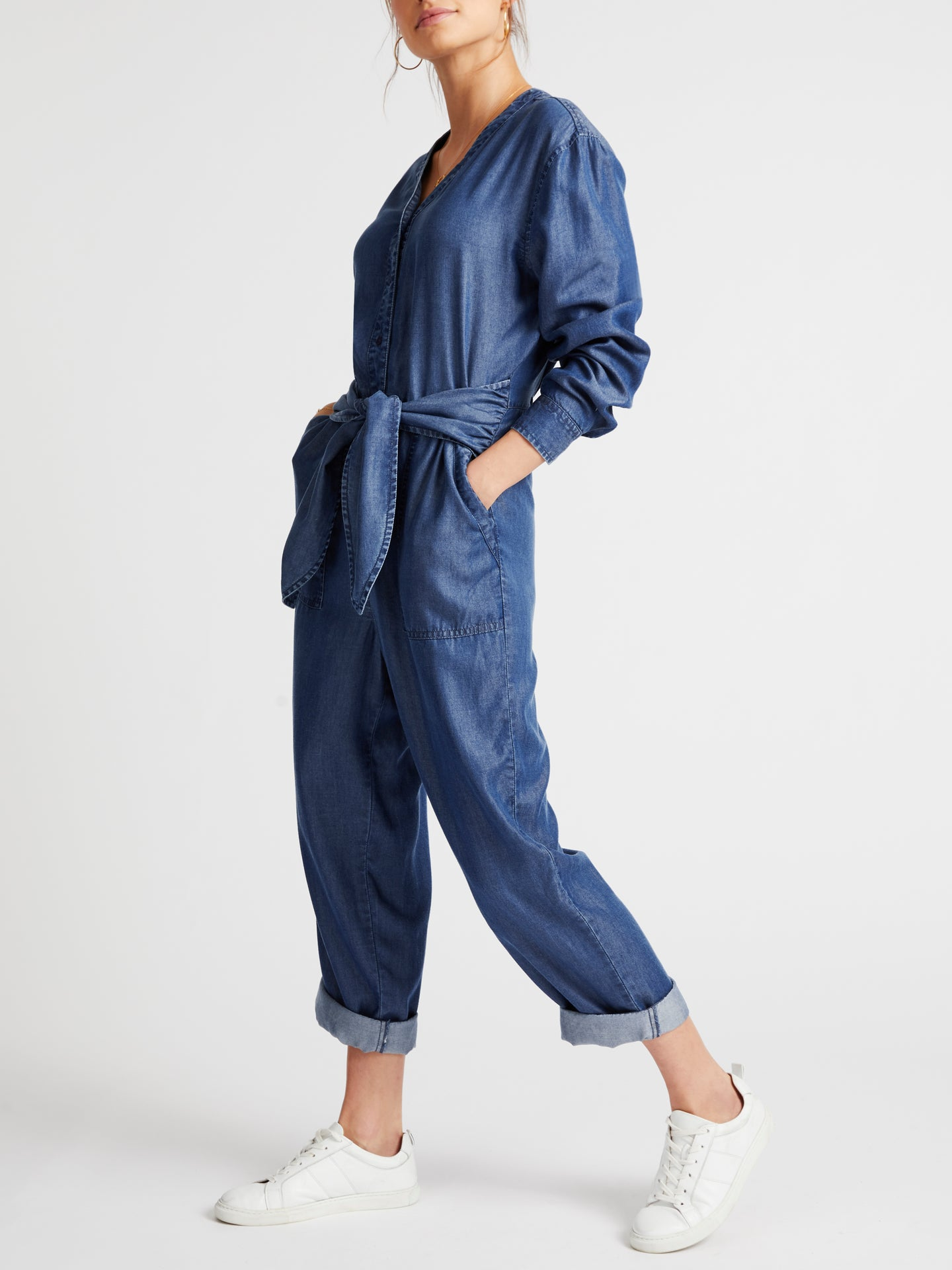 Kelly lyocell tie front jumpsuit