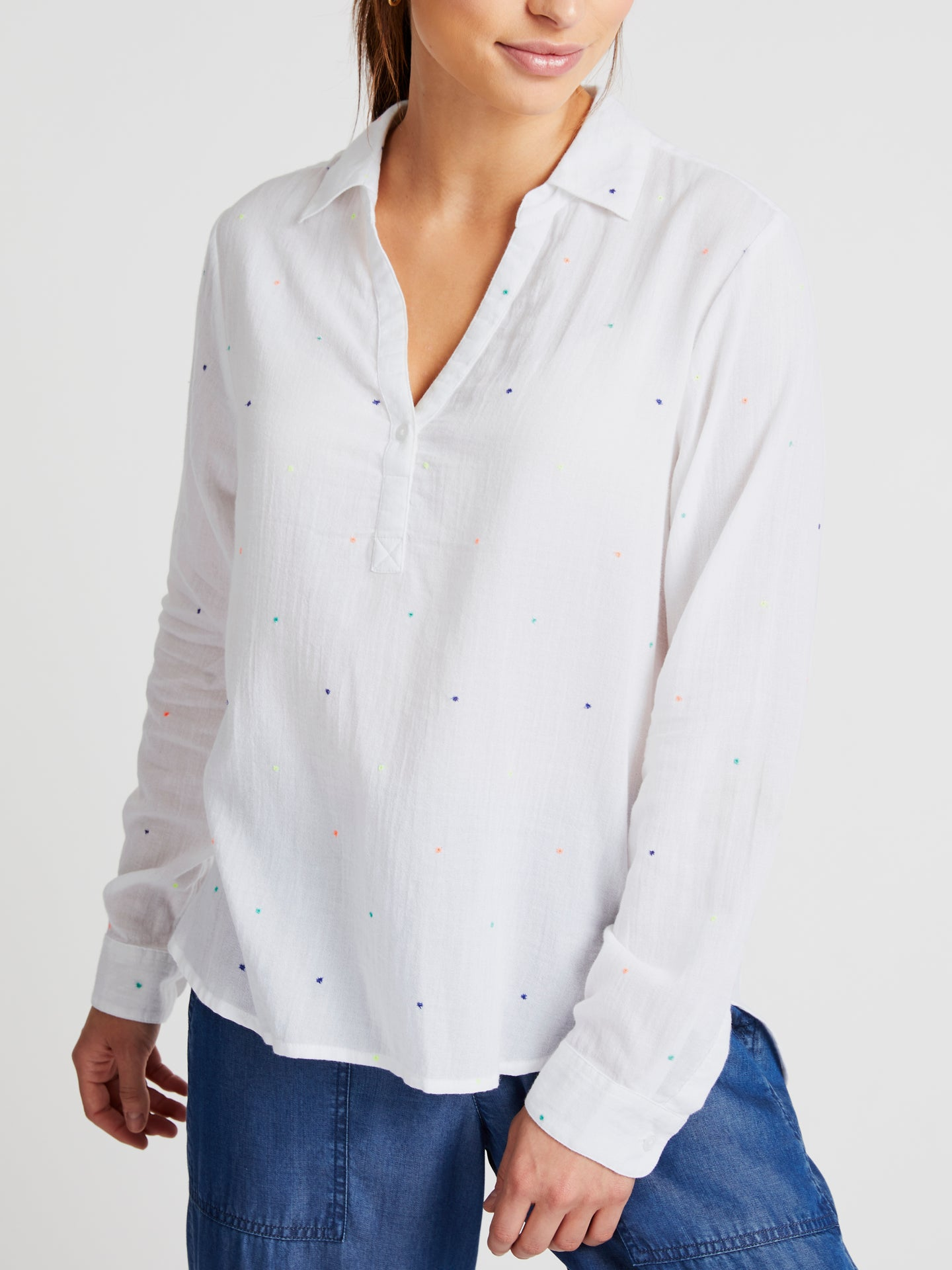 Ella cotton multispot blouse