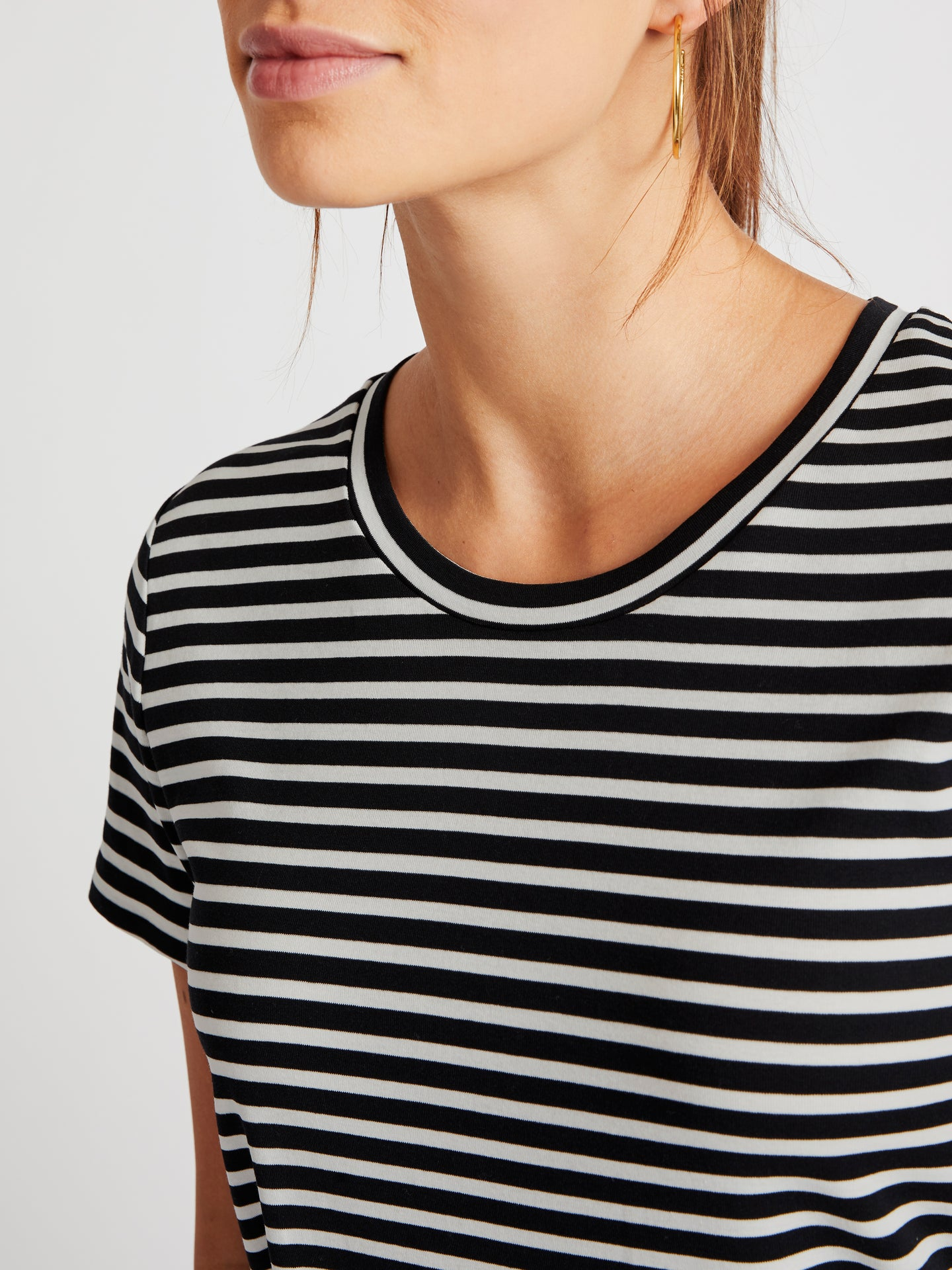 Jamie cotton stripe t-shirt