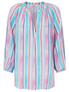 Olivia stripe silk shirt