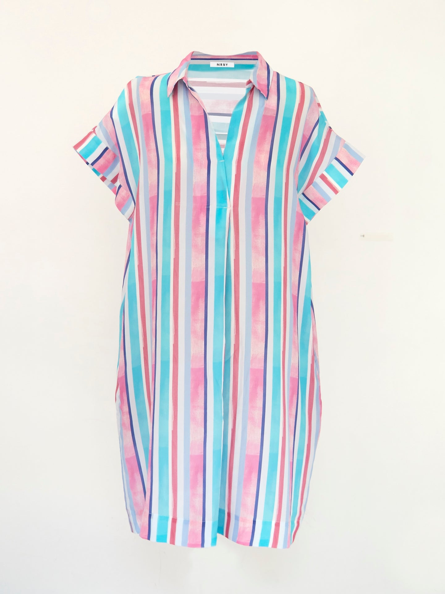 Shelly silk stripe dress