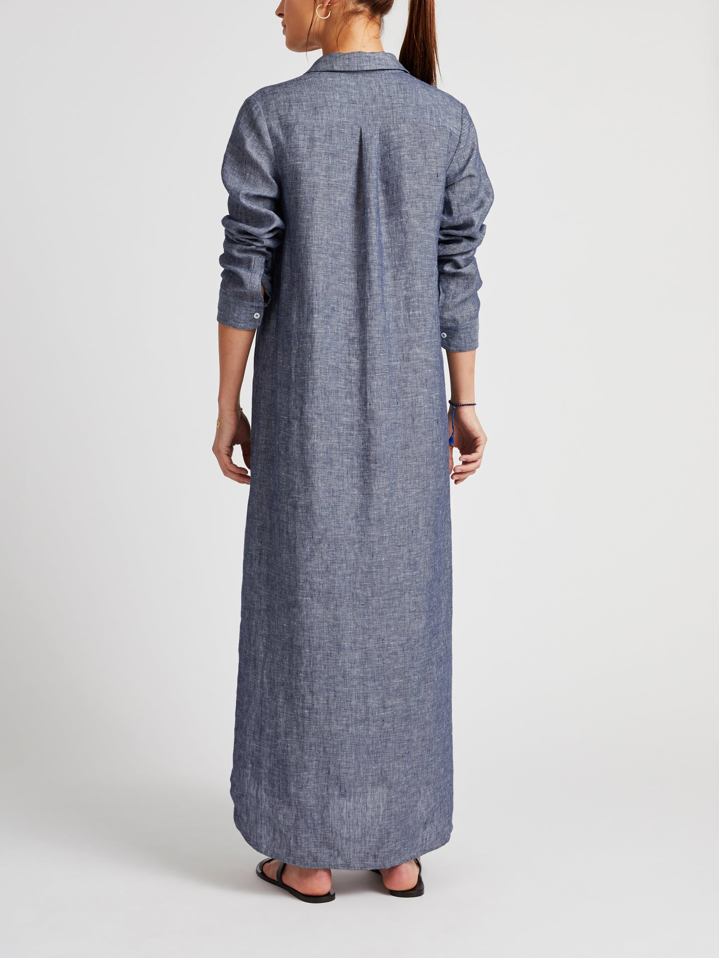 Chrissie linen maxi dress