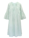 Elizabeth cotton check sleeve dress