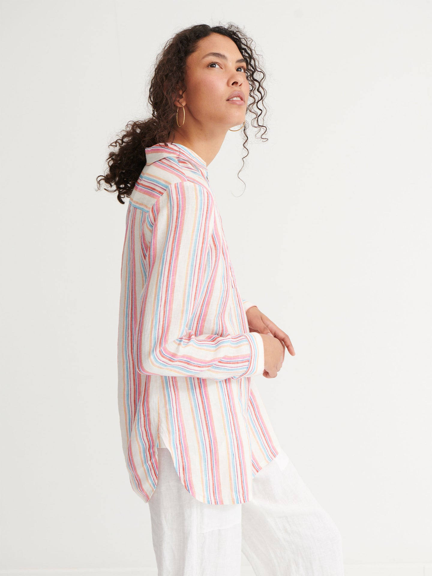 Chrissie linen stripe shirt