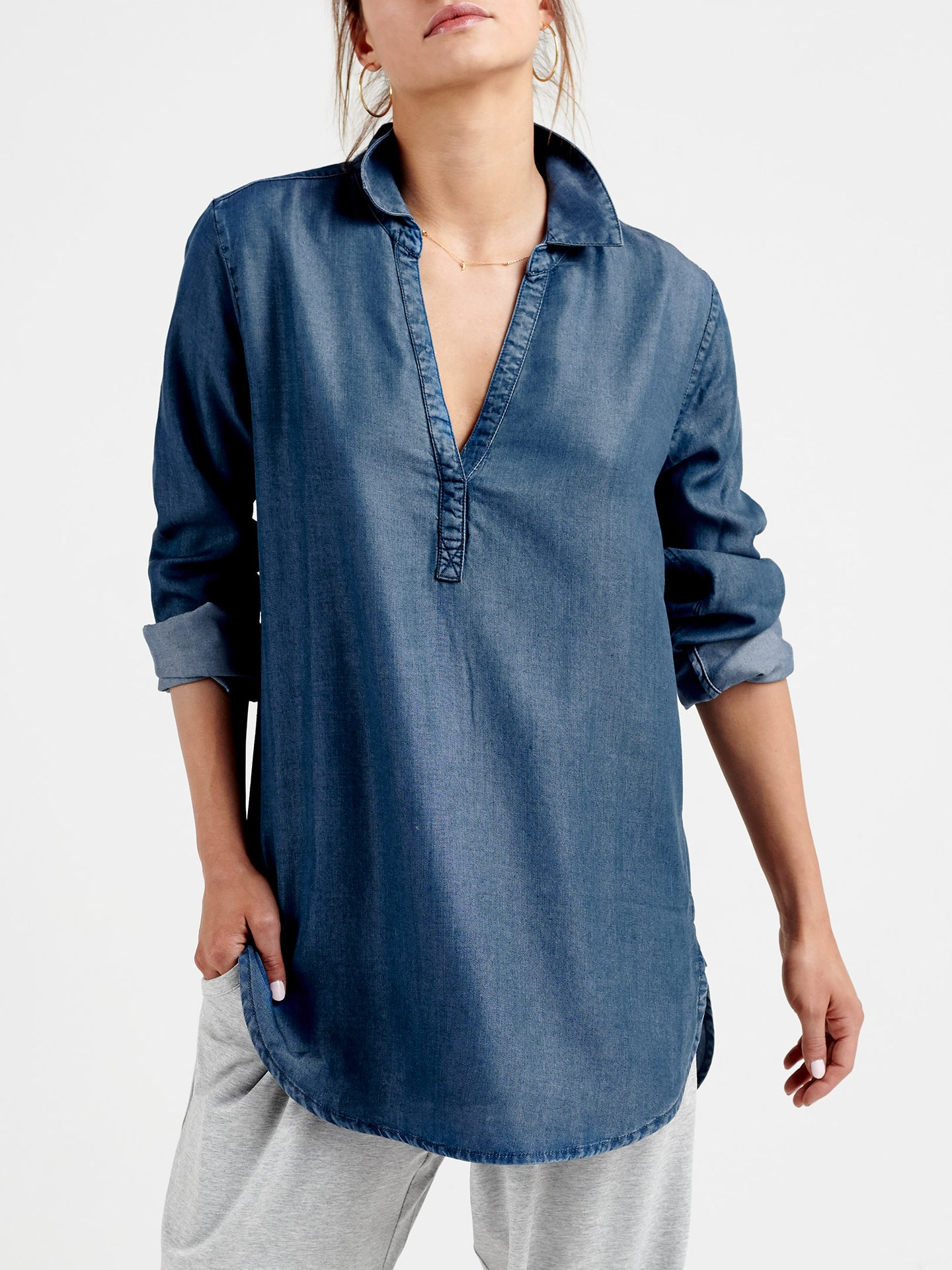 Chrissie tencel denim shirt