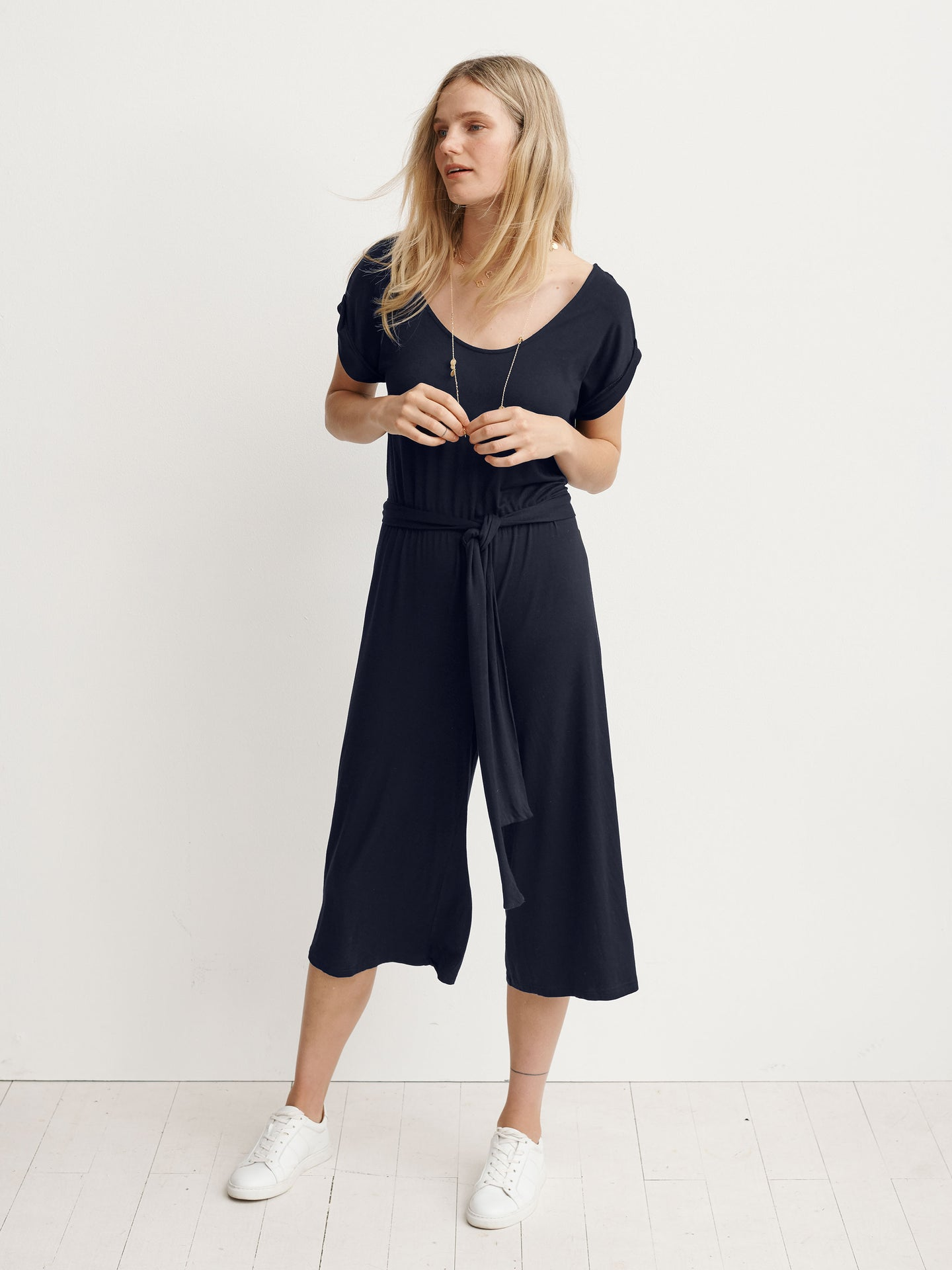 Marie jersey short-sleeved jumpsuit