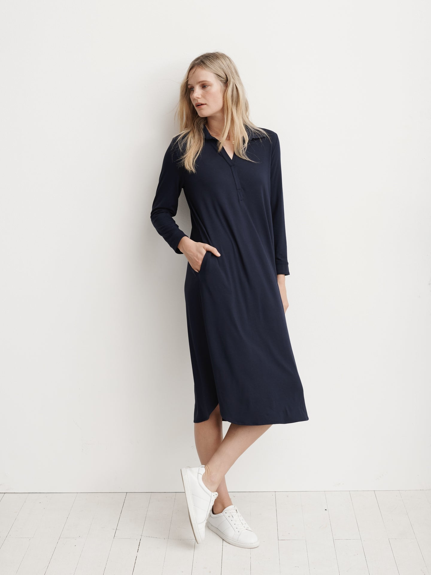 Chrissie jersey shirt dress