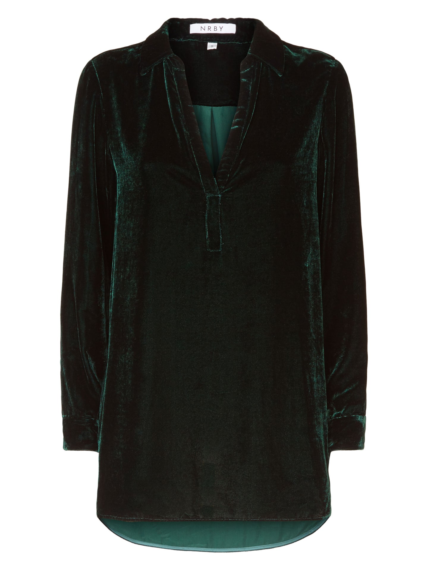 Ella velvet shirt forest green