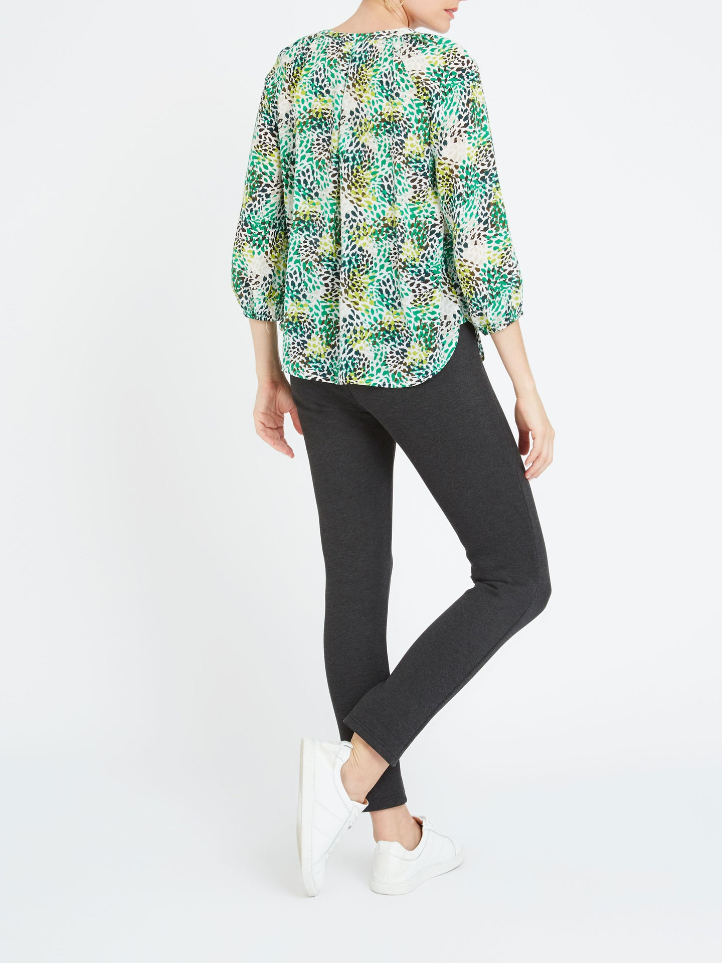 Olivia silk animal print shirt