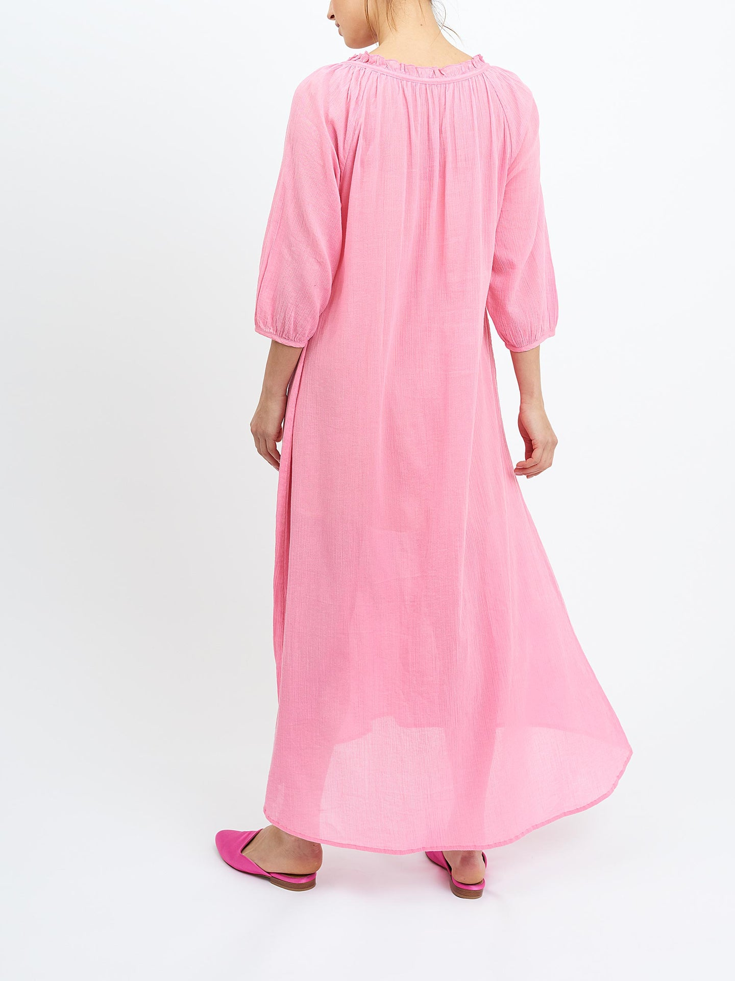 Rosie cheesecloth maxi pink