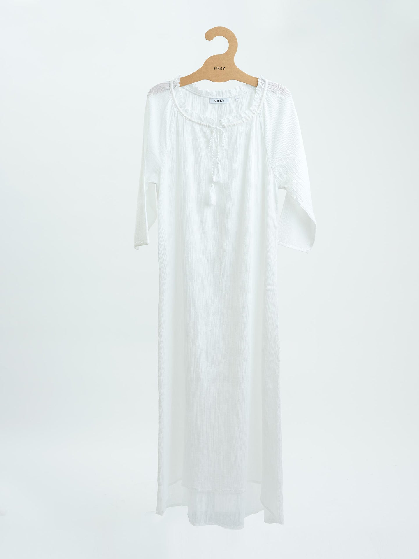 Rosie cheesecloth maxi white