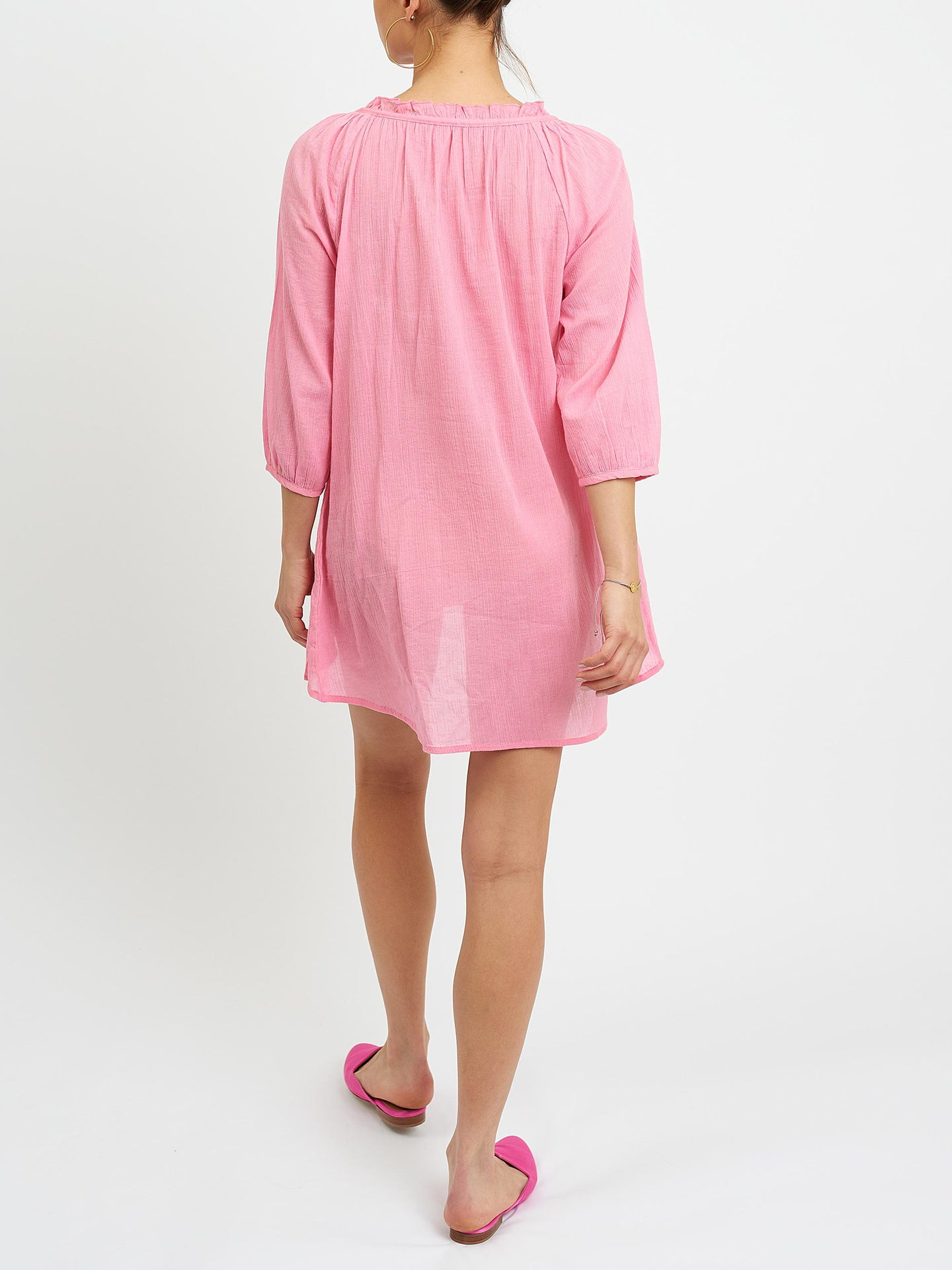 Rosie cheesecloth blouse pink