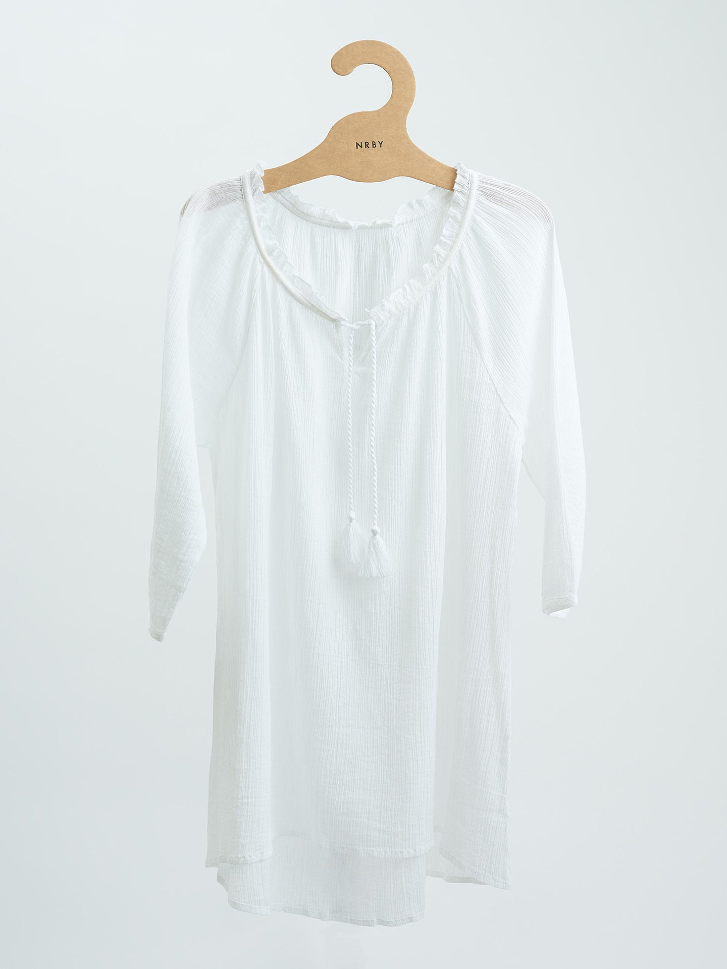 Rosie cheesecloth blouse white
