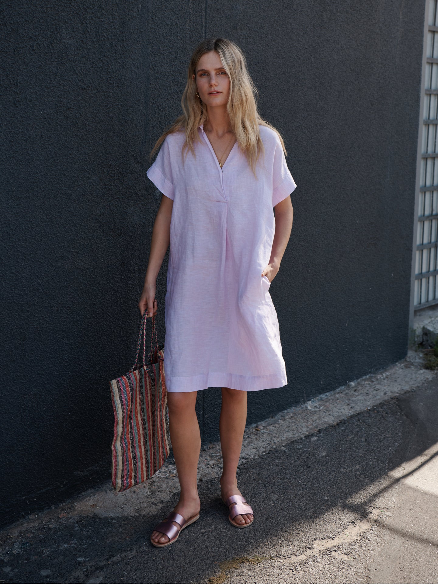 Shelly linen dress