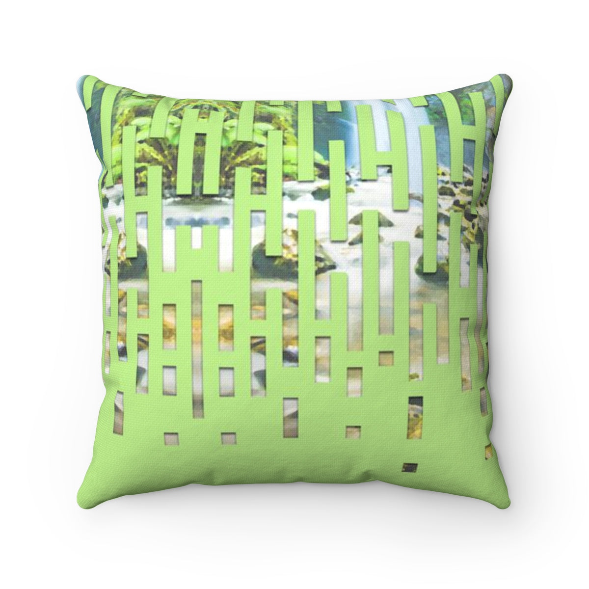Jungles & Waterfalls Square Pillow