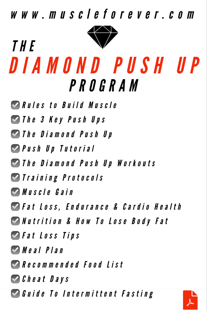 The Diamond Push Up Program – Muscle Forever