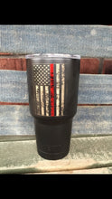 Load image into Gallery viewer, Distressed Thin Line powder coated stainless steel cup