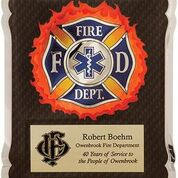 Load image into Gallery viewer, Firefighter award plaque 10 1/2 x 13