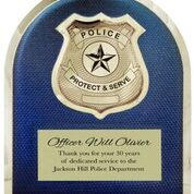 Police officer or Deputy award plaque 10 1/2 x 13