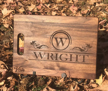 Load image into Gallery viewer, Personalized Engraved Cutting Board Choose From Walnut Maple or Bamboo