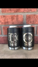 Load image into Gallery viewer, Pre-Coated YETI 12 colster koozie with laser engraved monogram or image