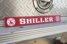 Load image into Gallery viewer, Firefighter gear locker name plate