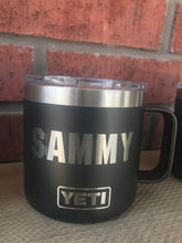 Load image into Gallery viewer, Pre-Coated YETI 14 oz MUG  with laser engraved monogram or image