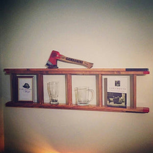 Wood Fire Sevice Ladder replica Shelf.