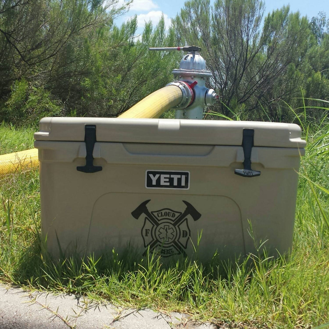 YETI Cooler personalized decals.