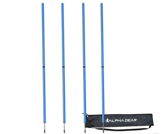 Agility Poles - two piece design