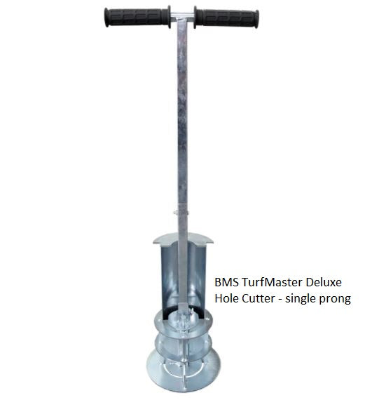 BMS TurfMaster Deluxed Hole Cutter, single prong