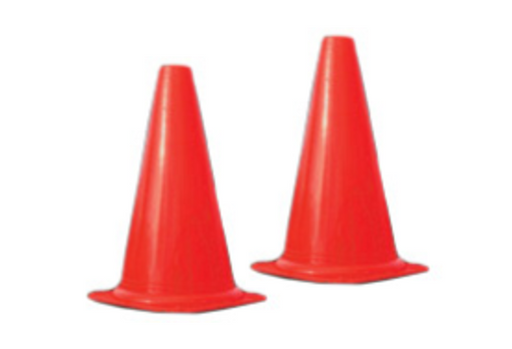 Orange witch hat cones - set of 10