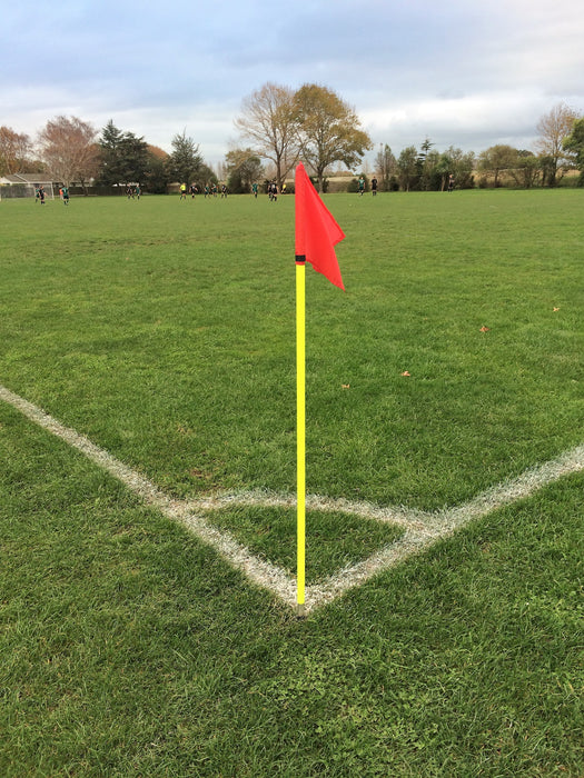 Corner Flag with spiked base and spring for turf fields