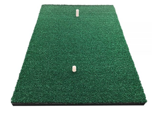Home practice golf mat with rubber tees