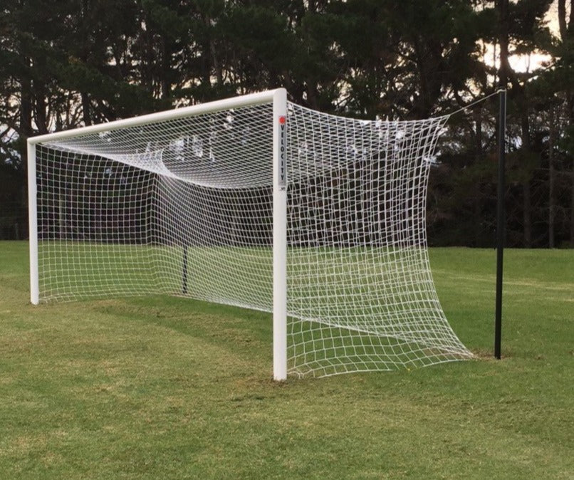 Velocity Semi Permanent Football Goal with 4mm net and Free Hanging Net Support