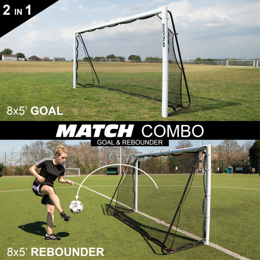 Alpha Match Goal and Rebounder combo 8x5ft