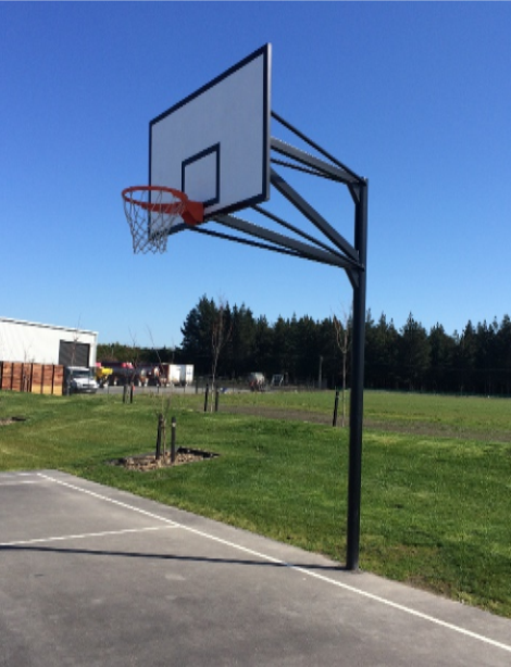 Semi Permanent Basketball Goal